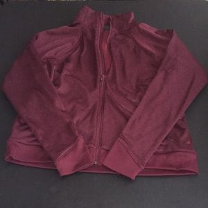 Under Armour Heathered Maroon Full Zip Jacket